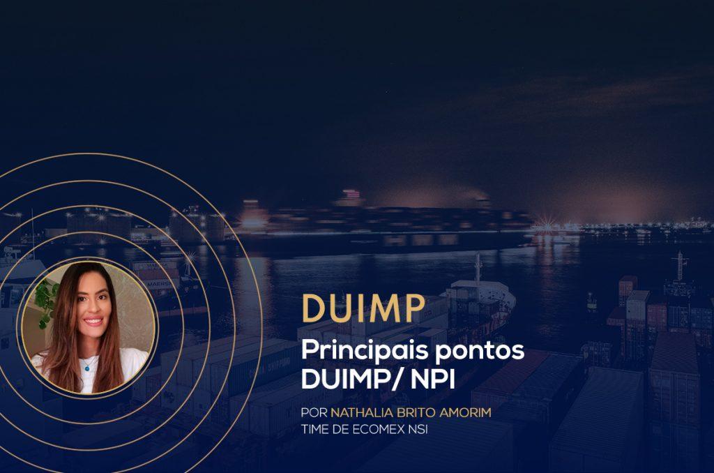 Principais pontos DUIMP/ NPI